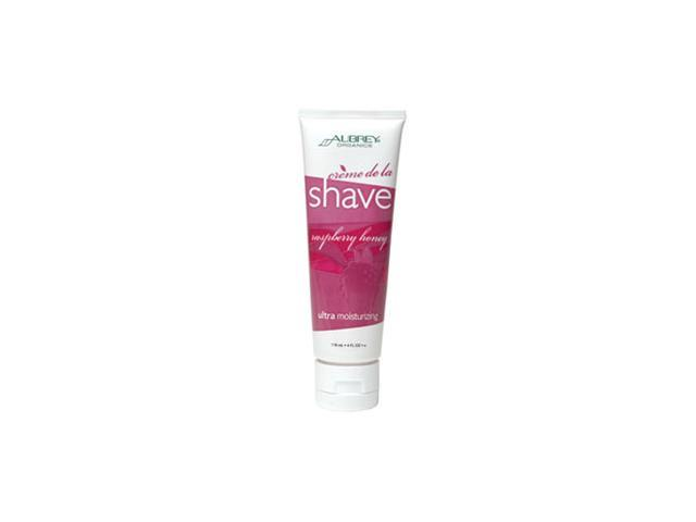 Aubrey Organics, Creme de la Shave, Raspberry Honey, 4 fl oz (118 ml)