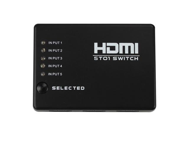 Flylink 5 Port 1080P Smart HDMI Switch (Auto switch among 5 input sources, IR remote included)