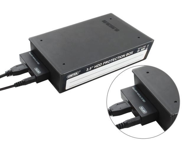 "UNITEK Y-1039C USB3.0 to SATA III(6G) Converter + 3.5"" HDD Protection Box, 12V/2A US Power Adapter"