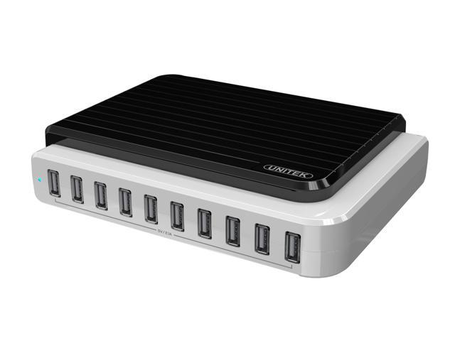 UNITEK Y-2155 USB 10-port 105W/21A Charging Station(for Smart Phones and Tablet PCs),2.1A for each port