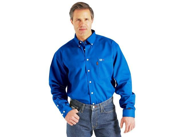 Cinch Western Shirt Mens L S Wrx Flame Resistant 3xl Royal