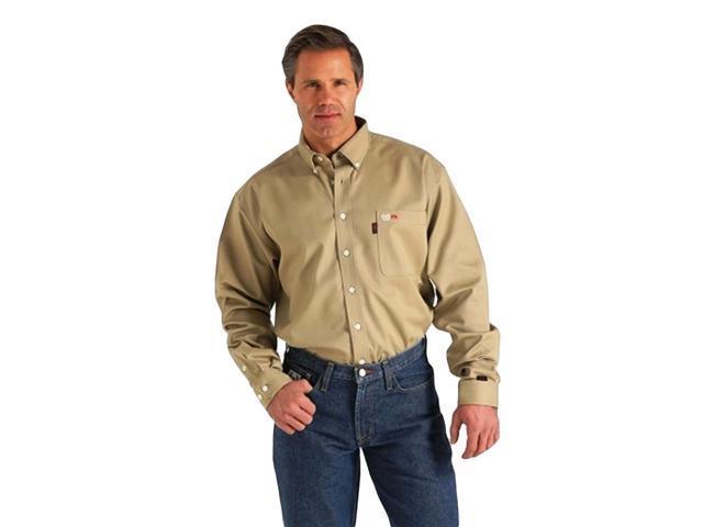 Cinch Western Shirt Mens L S Wrx Flame Resistant Xxl Khaki