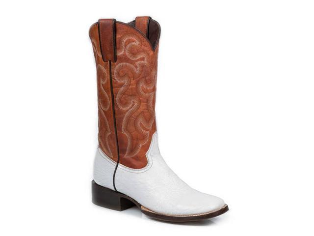 stetson western boots womens shark 8 b white 12 021 8838