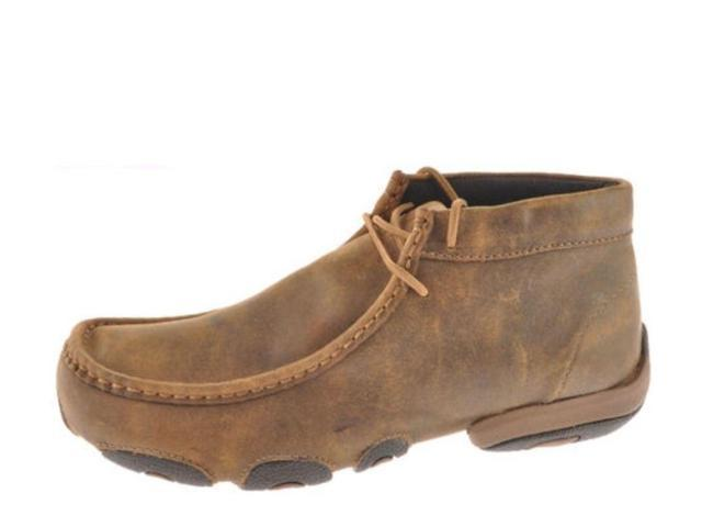 twisted x casual shoes mens leather driving moc 8 m bomber