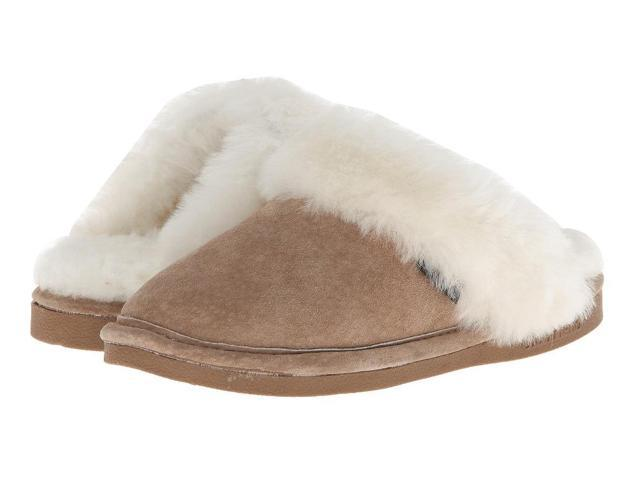 Old Friend Slippers Womens Sheepskin Scuff S 5-6 W Chestnut 441201
