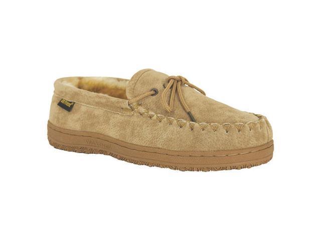 Old Friend Slippers Mens Sheepskin Moccasin 11 EW Chestnut 421208