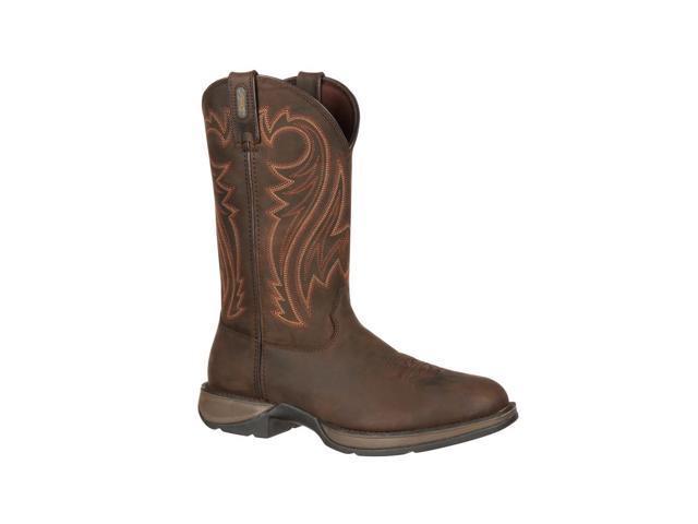"Durango Western Boot Men 12"" Rebel Round Toe 9 EE Chocolate DB5464"