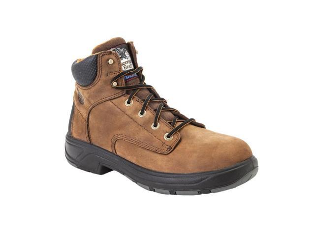 """Georgia Work Boots Mens 6"""" Flxpoint Waterproof Leather 7 W Brown G6544"""