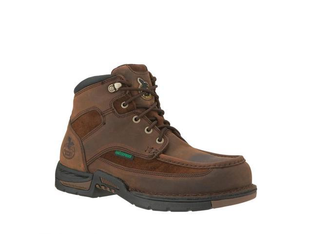 "Georgia Work Boots Men 6"" Athens Steel Toe Waterproof 13 D Brown G7603"