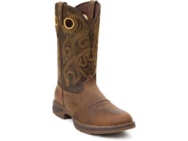 "Durango Western Boots Mens 12"" Rebel Saddle Round Toe 8 D Brown DB5468"