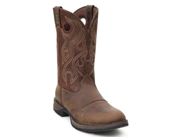 "Durango Western Boot Men 12"" Rebel Saddle Round Toe 13 2E Brown DB5474"