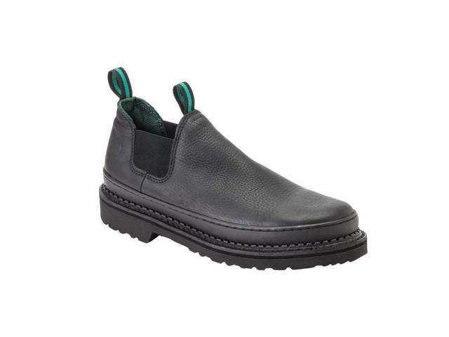 Georgia Work Shoes Men Giant Romeo Leather Goodyear 10.5 W Black GR270