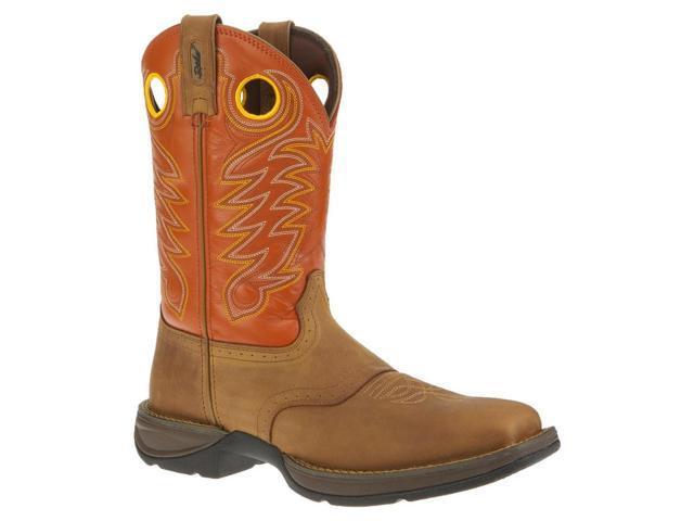 "Durango Western Boots Mens 11"" Rebel Saddle Square 8.5 D Brown DB5438"