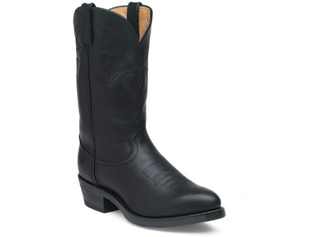 "Durango Western Boots Mens 11"" Leather Cowboy Heel 7 2E Black TR760"
