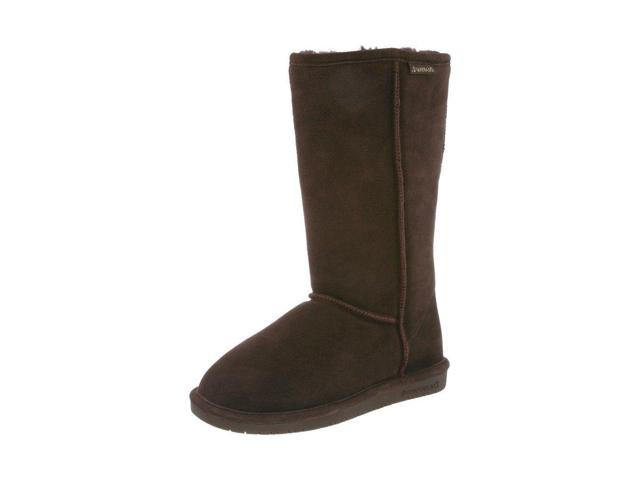Bearpaw Boots Womens Emma Pull on Suede Wool 11 Chocolate 612W