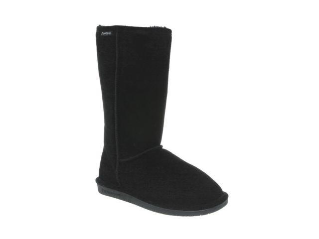 Bearpaw Boots Womens Emma Pull on Suede Wool 12 Black 612W