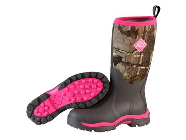 muck boots womens woody pk winter camo 11 pink br