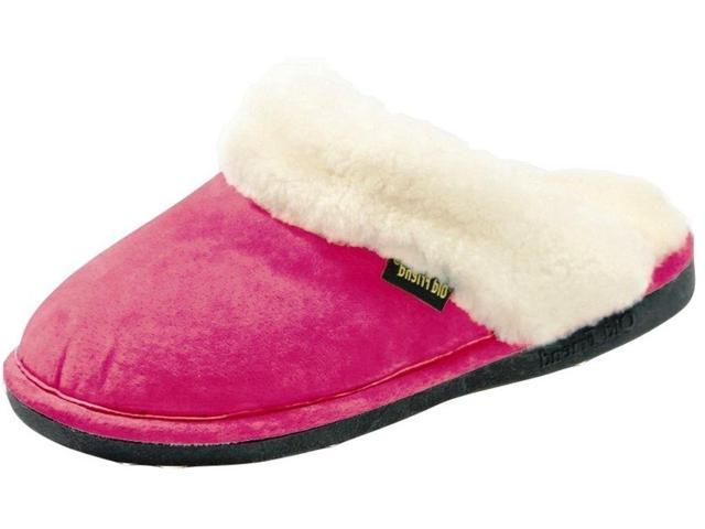 Old Friend Slippers Womens Sheepskin Scuff XXL 13-14 Hot Pink 441169