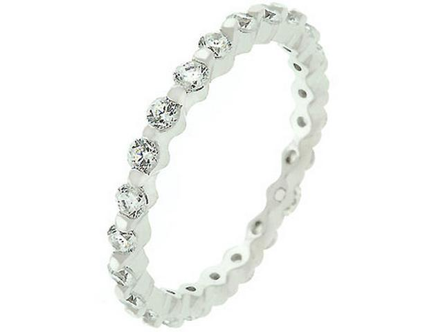 925 Sterling Silver Cubic Zirconia Eternity Ring