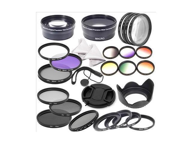 XCSOURCE® 58mm Complete Lens Filter Wide Angle  Marco lens Telephoto Lens Set for  DSLR Camera Canon 700D 650D 600D 550D ...