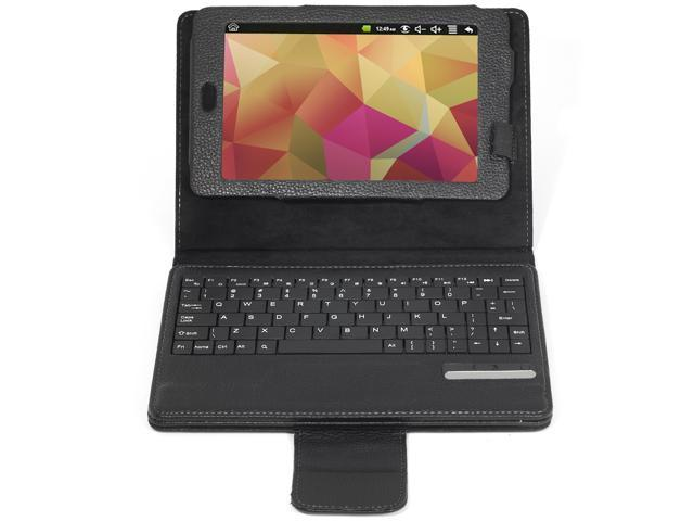 "Leather Case Cover REMOVABLE Bluetooth Keyboard f Google Nexus Tab 7"" IP42"