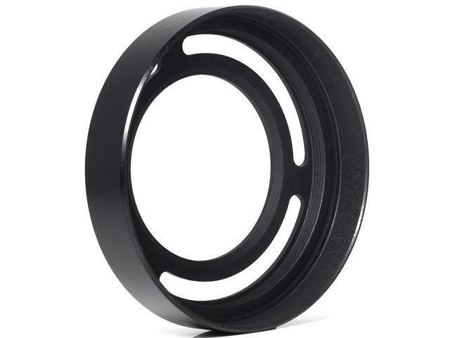 Metal Adapter Ring + Lens Hood For Fujifilm Fuji X10 Replace LH-X10 Black LF90-NE1