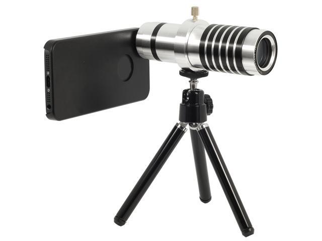 14x Aluminum Optical Zoom Telephoto Lens + Tripod + Case For iPhone 5 5G DC242