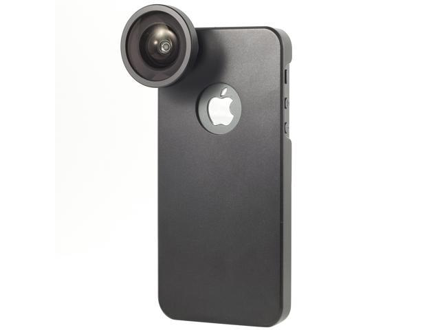 Protable 0.4x Wide Camera Lens With Back Case Cover For iPhone 5G 5 DC216-NE1