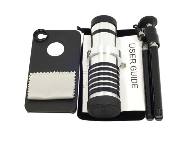 14X Optical Zoom Aluminum Telephoto Manual Focus Lens For iPhone 4 4S 4G DC213