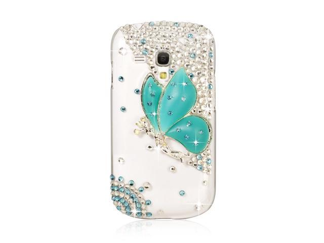 3D Bling Rhinestone Crystal Case Cover For Samsung Galaxy S3 i8190 S3 Mini PC399