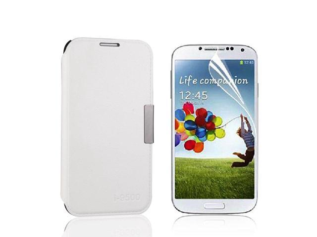 Rotatable PU Leather Case For Sony Xperia Z L36H L36i + LCD Guard White PC496W