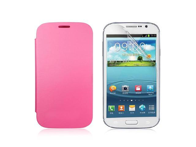Luxury Flip Leather Case Cover For Samsung Galaxy Grand Duos i9082 Pink PC443P