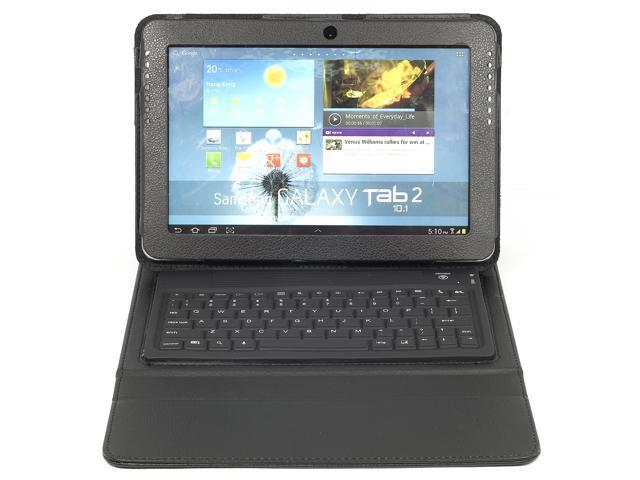Bluetooth Keyboard Leather Case for Samsung Galaxy Tab 2 P5100 P5110 P5110 PC379