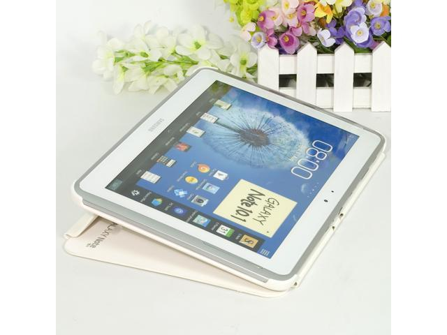 "White Magic PU Leather Case for 10.1"" Samsung Galaxy Note N8000 skin PC307W"
