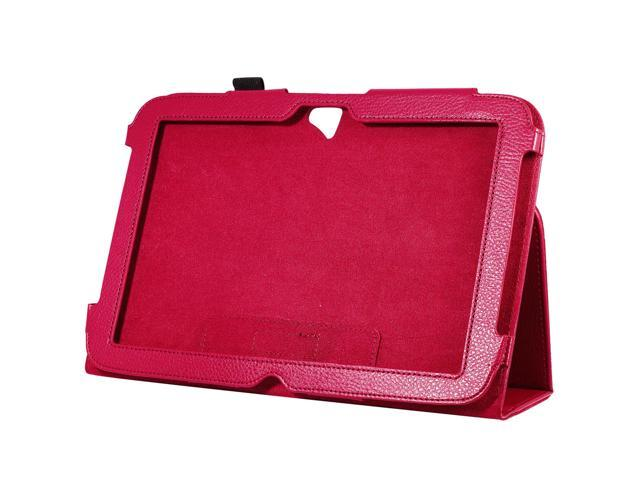 "Magnetic Leather Folio Case Cover Skin Stand for Google Nexus 10"" Red PC388R"