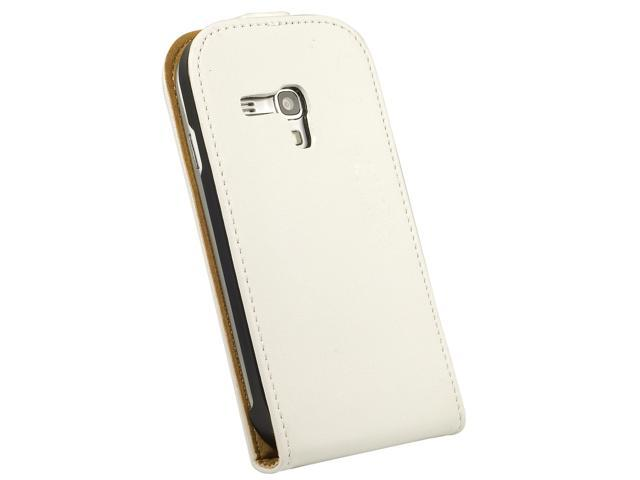 Vertical FLIP Leather Case Cover For Samsung i8190 Galaxy SIII Mini White PC383W-NE1