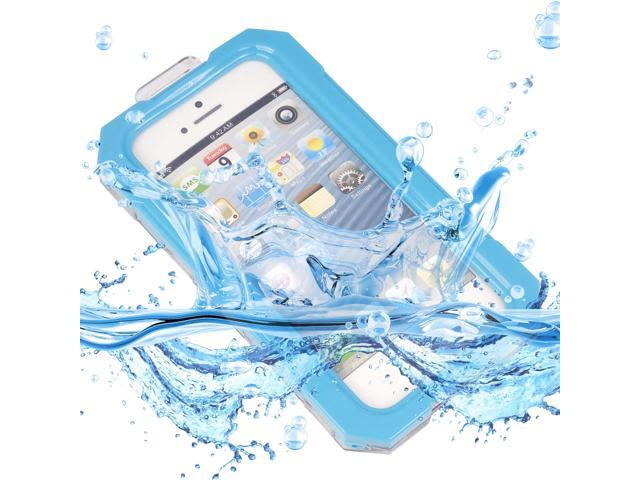 Waterproof Shockproof Dirt Proof Protective Case Cover For iPhone 5 Blue PC490L