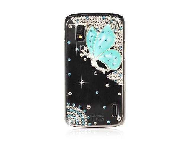 Glitter Bling Rhinestone Clear Crystal Case For LG Google Nexus E960 PC404-NE1