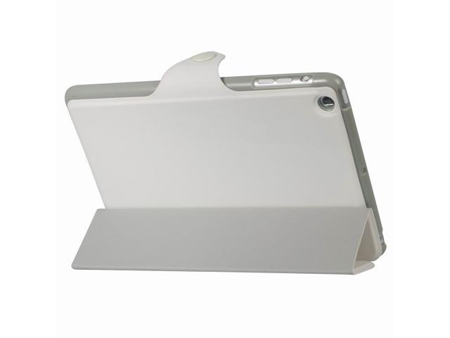 Leather PU Stand Case Smart Cover for iPad Mini Support Sleep/Wake white PC353W-NE1