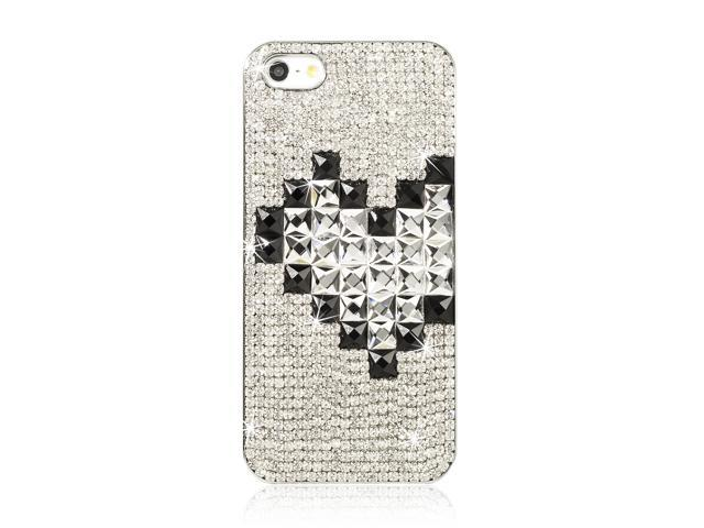 3D Bling Case Handmand Glitter Crystal Back Cover For Apple iPhone 5 5G PC406-NE1