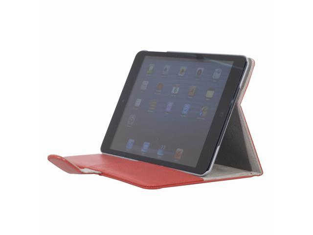 Red Flap PU Leather Folio smart Case Pocket Card Slots for iPad Mini PC349R