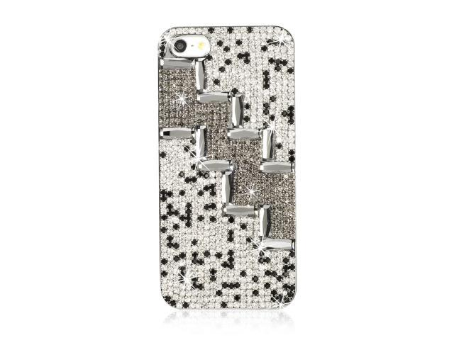 Luxury 3D Bling Case Clear Glitter Crystal Hard Case Cover For iPhone 5 5G PC408-NE1