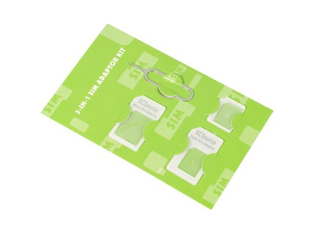 XCSOURCE Adaptors Nano SIM to Micro SIM / Standard SIM Card for iPhone AC77A