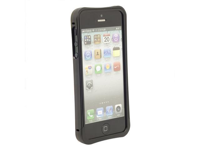 Black Clear Aluminum Mental Frame Bumper Case Cover For iPhone 5 5G PC339B-NE1