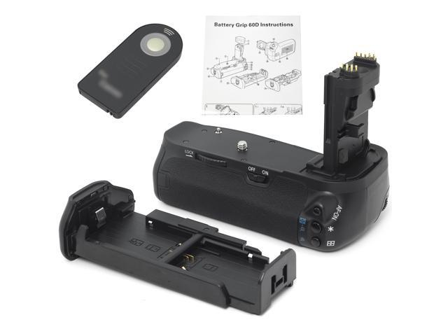 Battery Grip + IR Remote + AA Battery Holder for DSLR Canon EOS 60D Camera LF97