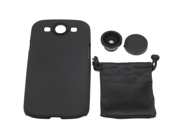Fish Eye Lens + Back Cover Hard Case For Samsung Galaxy S3 SIII GT-i9300 DC195