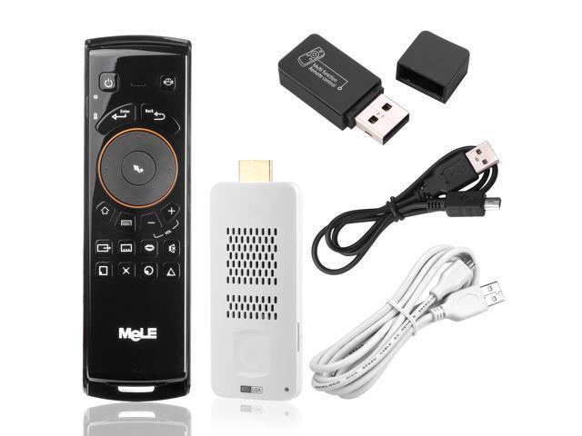 2in1 Dual Core Android 4.1 4GB Mini PC 1080P TV Box + F10 Wireless Keyboard CN85
