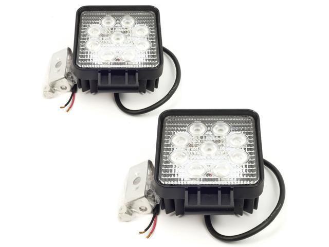 27 Watt 12V/24V Waterproof LED Work Lamp Flood Light IP67 LD80 (2-Pack)