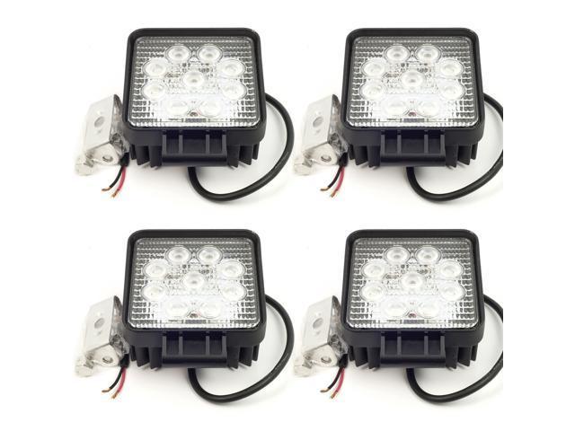 27W LED Work Lamp Flood Light 12V/24V Waterproof IP67 LD80 (4-Pack)