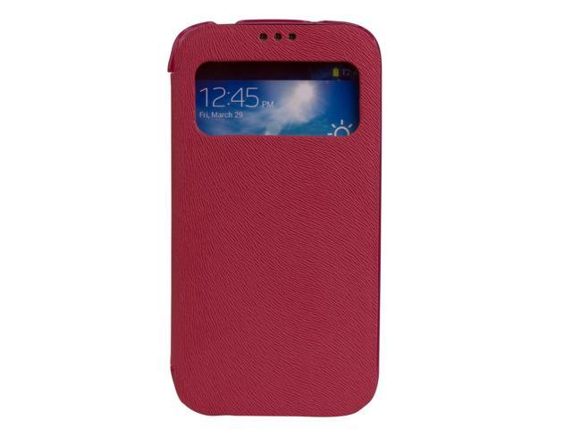 View Flip Leather Case Cover For Samsung Galaxy S4 IV i9500 Pink PC512P